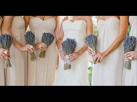 Dried Lavender Bouquet Wedding - YouTube