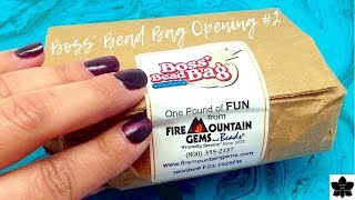 Boss' Bead Bag Opening #2   Fire Mountain Gems   $5 Bead and Jewelry Making Grab Bag