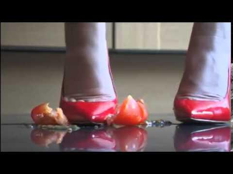 MissAdorabella Crushes Tomato Under Her Heels