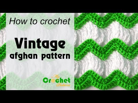 Vintage afghan crochet pattern - Afghan crochet patterns