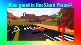 How good is the stunt plane? (Jailbreak - Roblox)