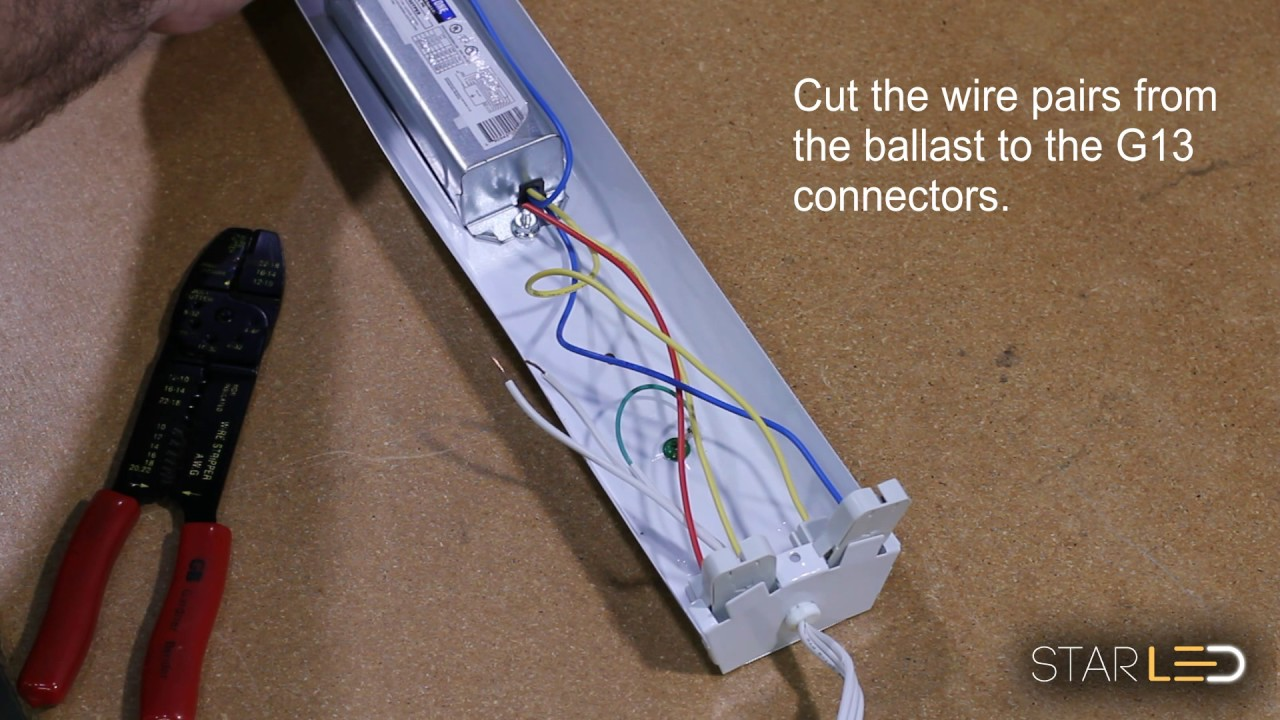 StarLED HD T8 / T12 Ballast Bypass Instruction For LED G13