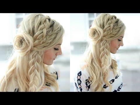 Half-Up Flower Braid Hairstyle