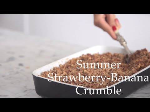 Strawberry-Banana Crumble by Deliciously Ella