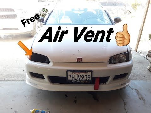 Free headlight air vent for your car!!!