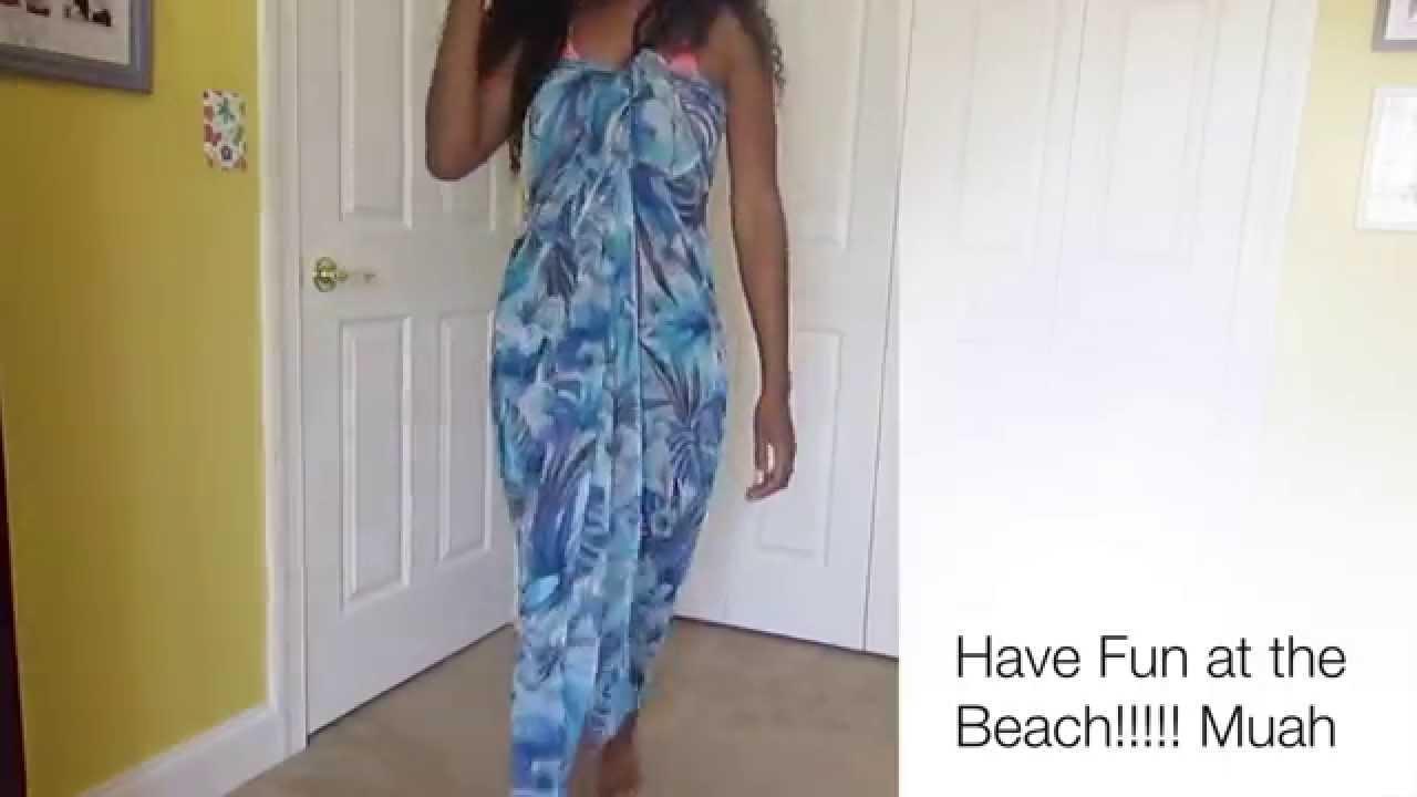 eed2adc984111 DIY: Wrap a Sarong 6 ways - YouTube
