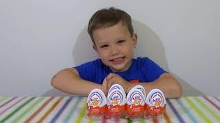 Тачки Дисней Киндер Джой игрушки распаковка Disney Cars Kinder Joy toys(Распаковка Киндер Сюрприз Джой яйца из серии игрушки машинки Тачки Дисней Unpacking Disney Cars Kinder Joy surprise eggs toys..., 2015-06-12T10:35:54.000Z)