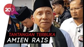 Amien Rais Tantang Jokowi Duel Secara Demokratis