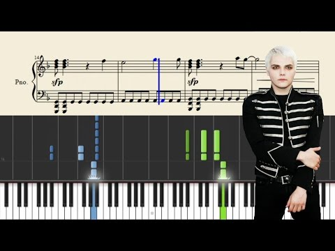 My Chemical Romance - Famous Last Words - Piano Tutorial + SHEETS