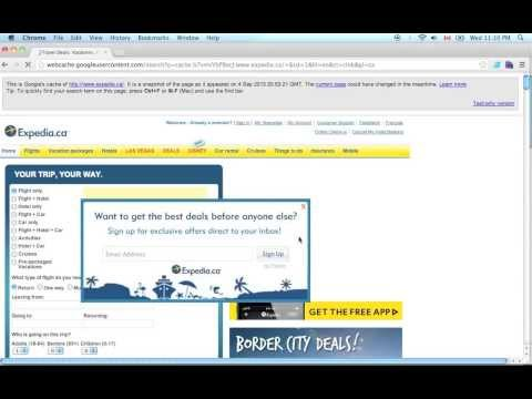 SEO tip: How Google sees your website? Web CACHE - Expedia.ca example.