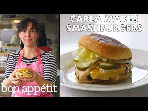 Carla Makes BA Smashburgers   From the Test Kitchen   Bon Appétit
