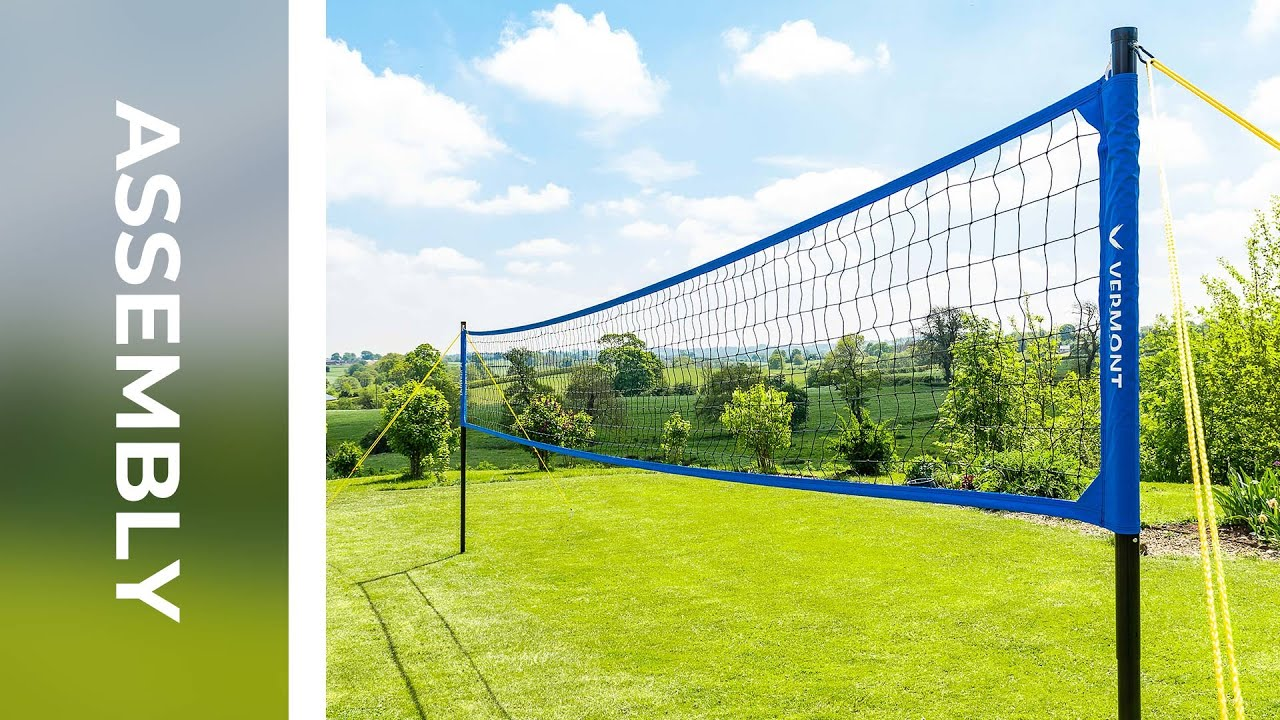 How To Assemble The Vermont Portable Volleyball Set Net World Sports Youtube