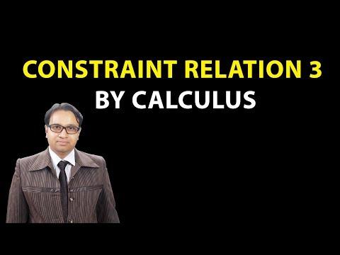 Force concept 6/10 :Constraint relation 3