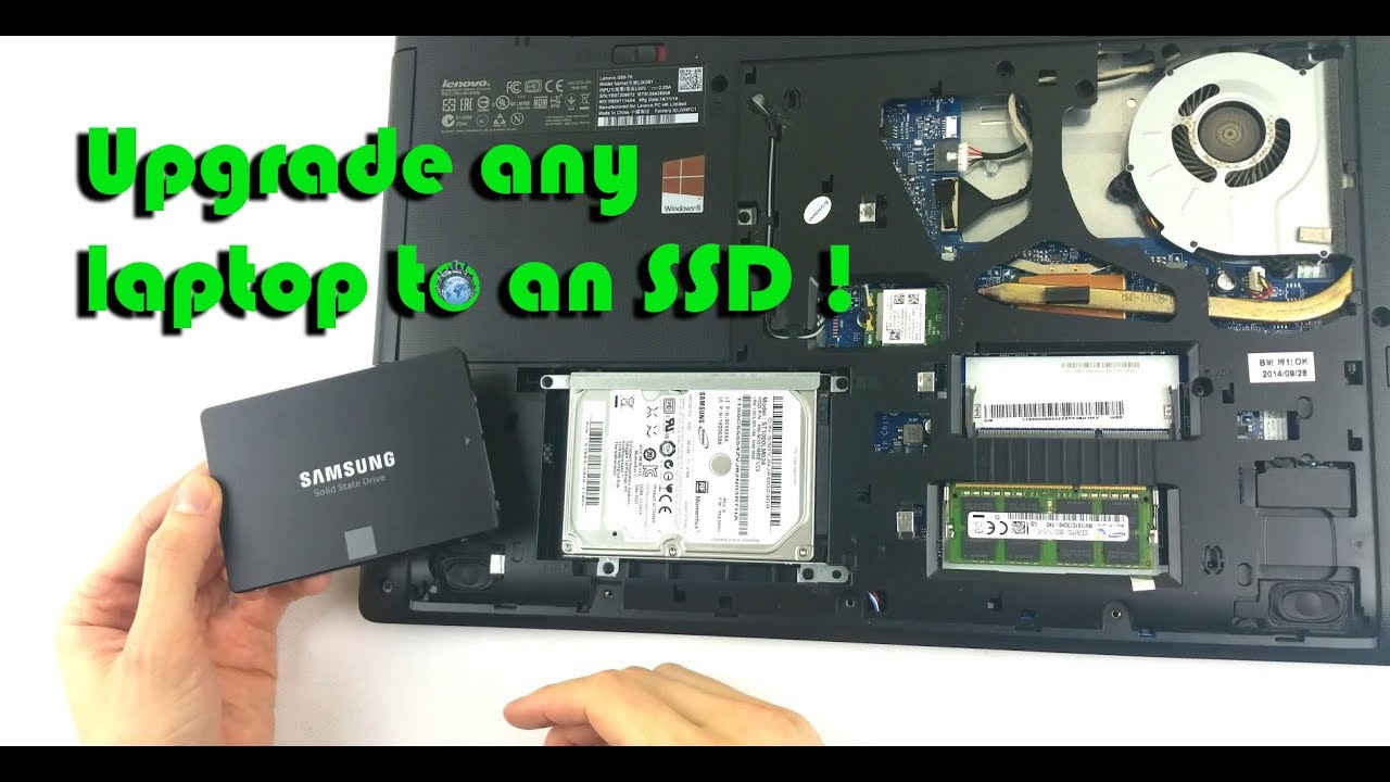 How to upgrade your laptop HDD to a Samsung 850 EVO SSD - Installation  process, boot & Win 10