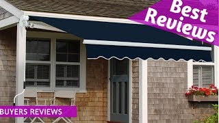 Best Diensweek Patio Awning Retractable Manual Commercial Grade Review