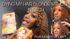 DYING MY HAIR FROM BLACK TO HONEY BLONDE WITHOUT BLEACH 🍯 | CREME OF NATURE