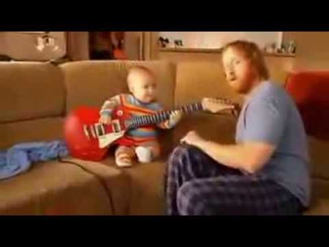 Short Funny Kids Joke, Awesome Kid Playing Guitar