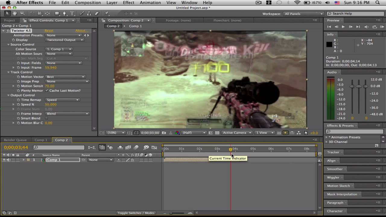 How to Use Twixtor in After Effects CS5 pics