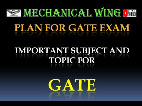 Plan & Preparation For GATE, Important Subject & Topic Analysis Of Mechanical Engineering.