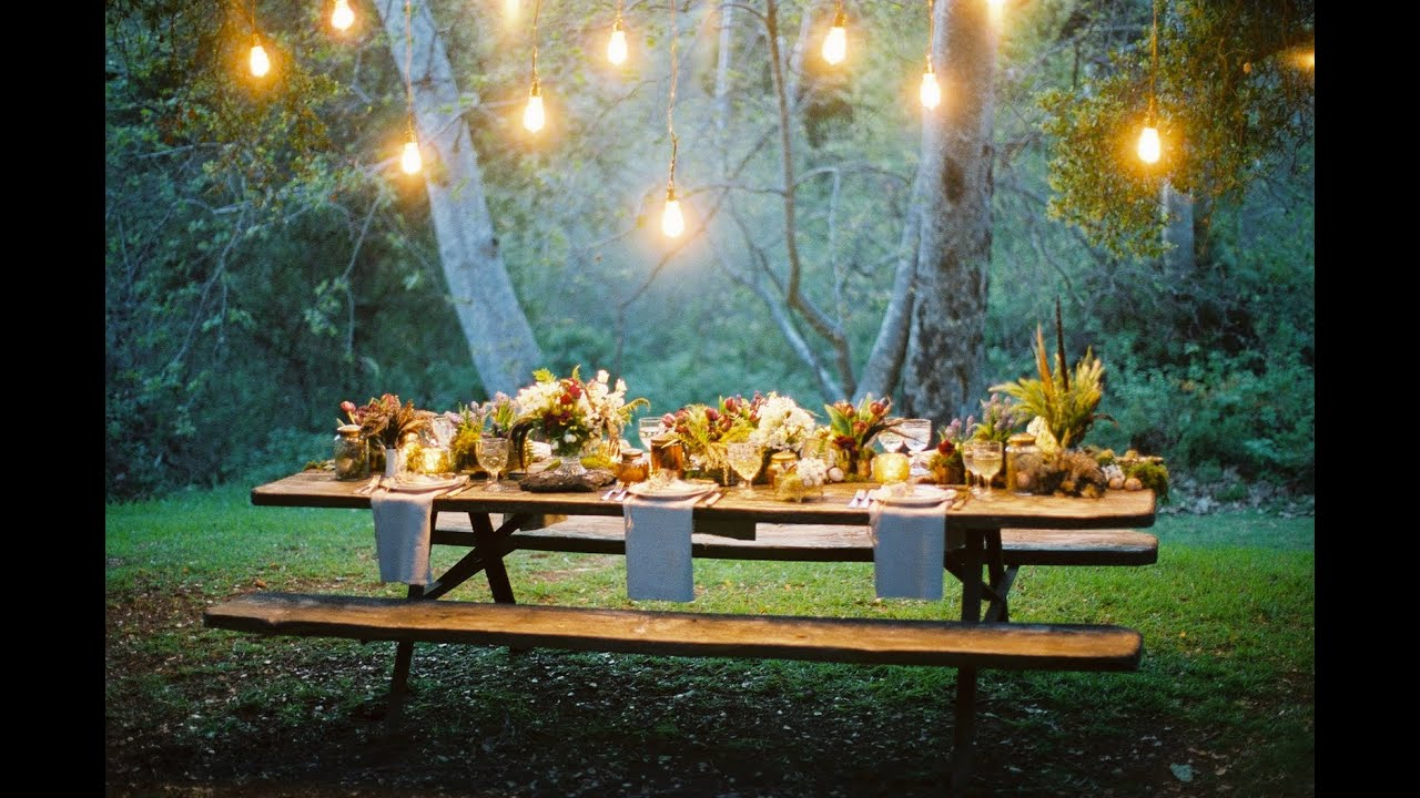 Uncategorized wedding style decor small home garden wedding ideas youtube - Garden Party Ideas Youtube Outdoor Party Decorations