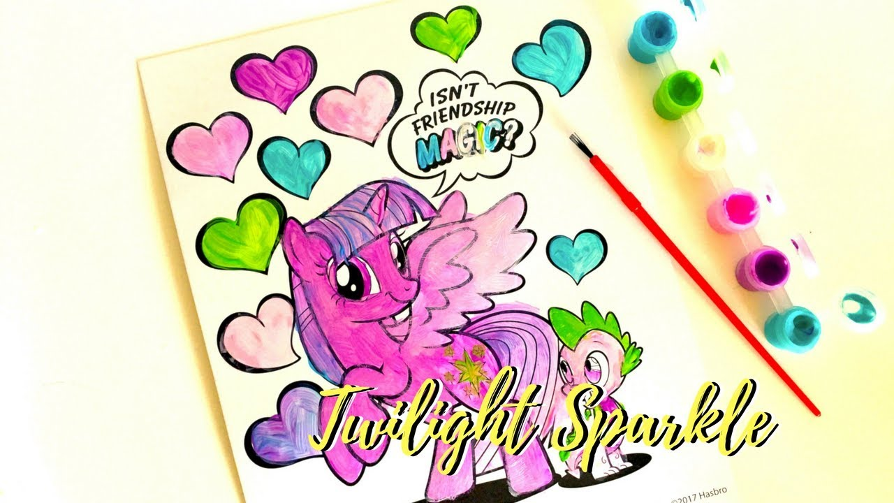 O Colorez Pe Printesa Twilight Sparkle Din Micii Ponei Mlp