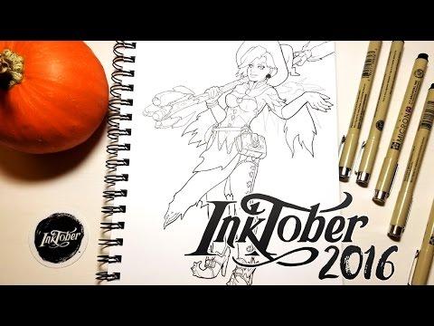 Inktober 2016 - Overwatch's Mercy