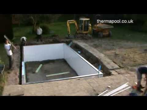 Diy swimming pool construction panel kit youtube for Inground swimming pool contractors