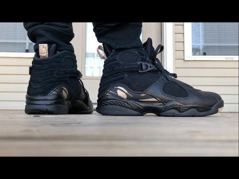 big sale 38121 88cd9 Jordan 8 OVO ON FOOT LOOK!