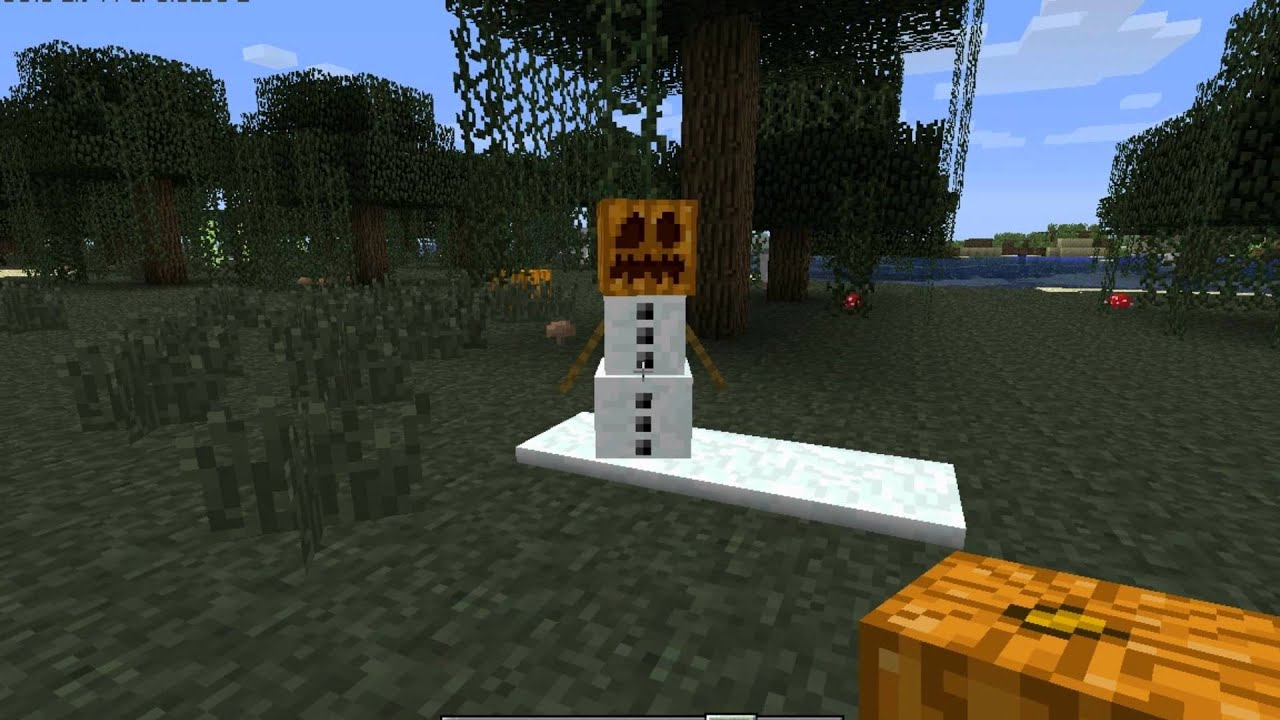Minecraft how to make a snowman youtube for How to create a snowman