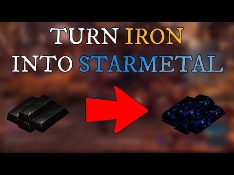 Turning Iron Into Starmetal!! New World Crafting
