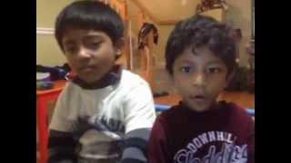 Aarya &Aaditya singing nani Koni