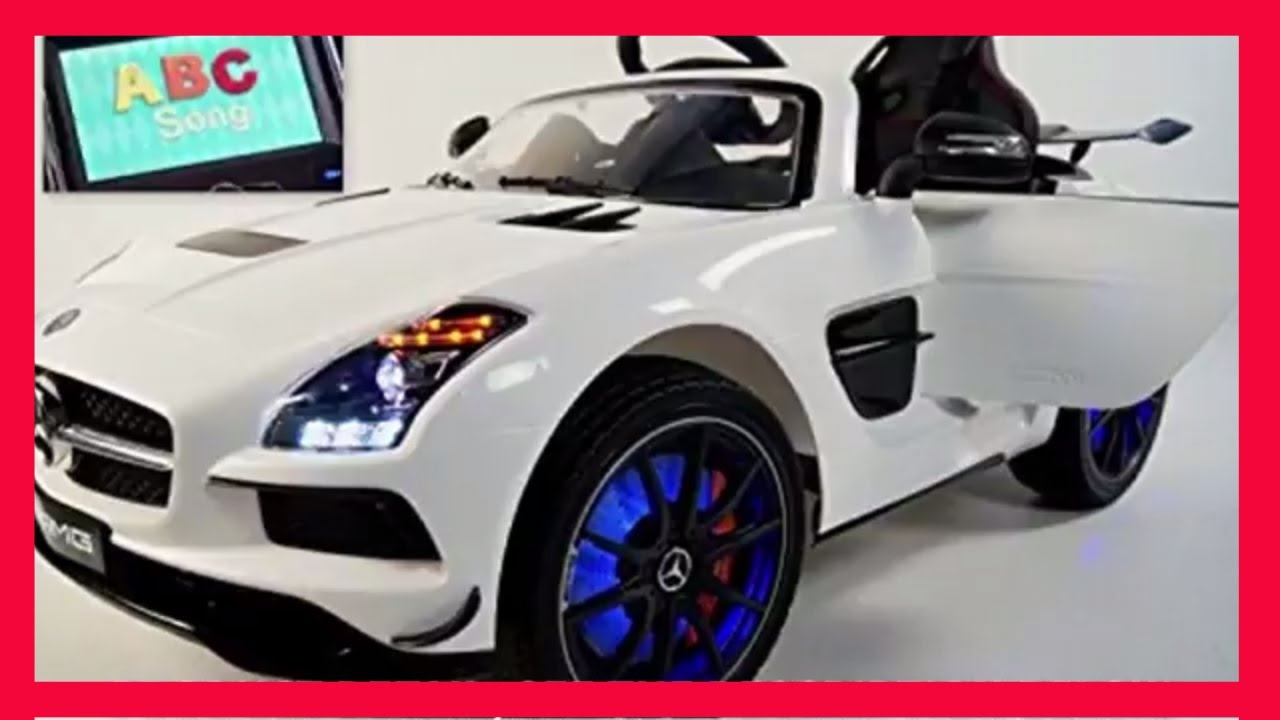 luxury mp4 entertainment edition 12v mercedes sls amg kids toddlers ride on powered wheels