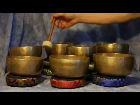 ~ Golden Sky 7 Bowl Chakra Set (notes D to C) ~