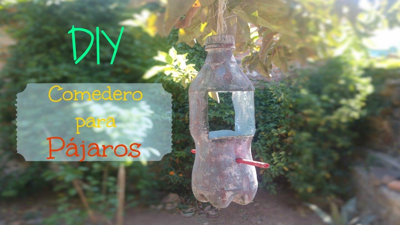 Comedero para p jaros youtube for Bebederos para aves jardin