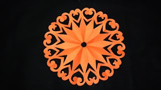 Mandala Design-How to make paper cutting mandala Design for Decorations step by step-paper craft.