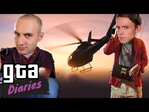 Epic falls into helicopter blades! - GTA Diaries