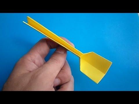 Как сделать вилку из бумаги