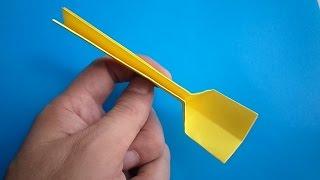 оригами ложка, как сделать оригами ложку // origami spoon
