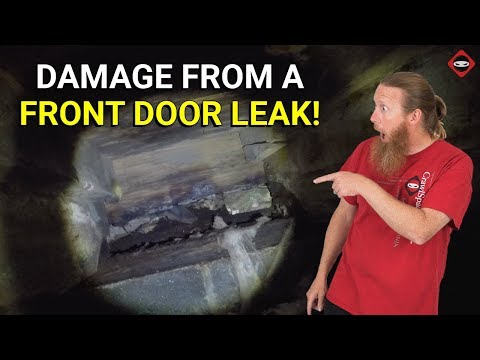 What Happens When Your Front Door Leaks | Major Water Damage In Crawl Space | Wood Rot