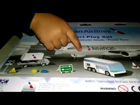Toy Airplane – American Airlines Toy – Airport Play Set – Toys for Kids Tots おもちゃ juguetes