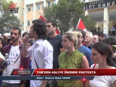 TGB'DEN ADLİYE ÖNÜNDE PROTESTO