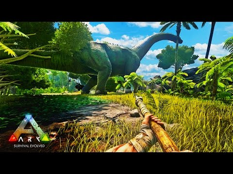 ARK Survival Evolved Gameplay - KNOCKING OUT DINOS and KILLER TURTLES!! ARK Funny Moments