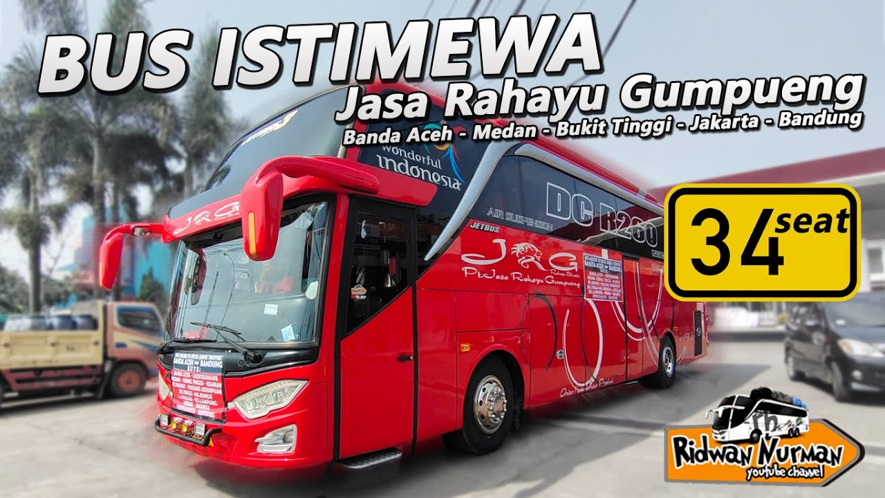 Bus Jrg Gebrak Trayek Aceh Medan Jkt Bandung I 34 Seat Saja I Terbaik Dijalurnya I Recommended Youtube