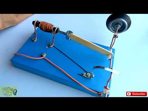 SOLENOID ENGINE | EASY SCIENCE PROJECT | HOMEMADE | DIY | How to make (tutorial) I