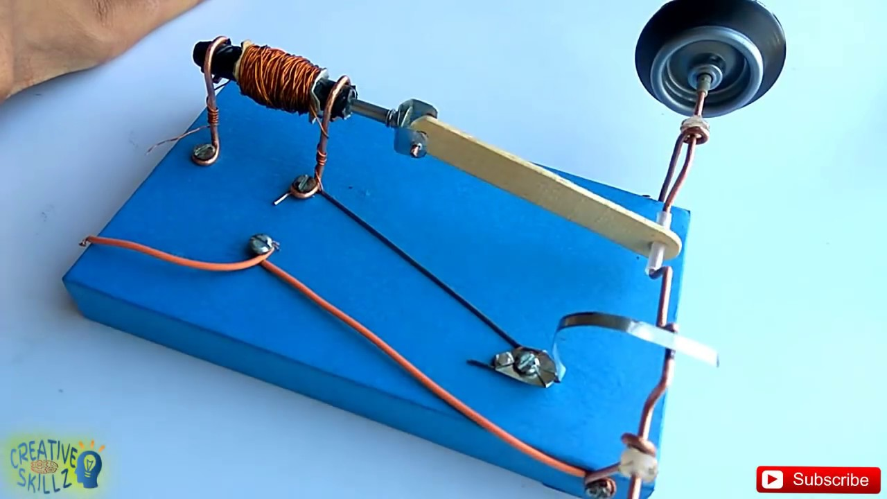 Solenoid engine easy science project homemade diy for Simple electric motor science project