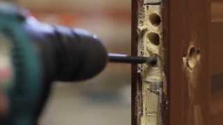 Cómo instalar una cerradura de embutir