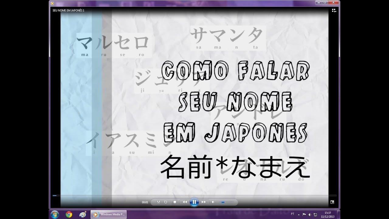 Como Falar Seu Nome em Japonês [HD] Do Outro Lado do Mundo