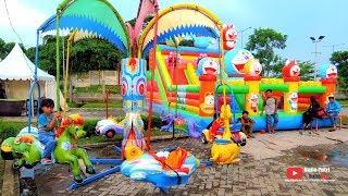 Naila bermain di Playground Outdoor   naik Odong odong Berputar SERU BANGET..!!