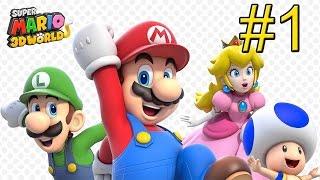 Super Mario 3D World Wii U часть 1 Новый Марио