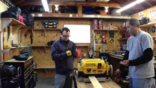 Dewalt Dw735 13'' Three Knife Two-speed Thickness Planer - Review